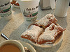 Hot beignets and coffee!