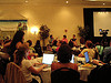 BlogHers nerding out during keynote lunch