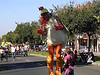 Chickens on stilts open Berkeley parade