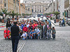 Happy group in front of Vatican