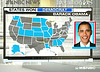 NBC News map showing Obama wins