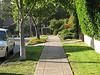 Straight sidewalk with excellent light