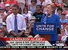 Clinton and Obama in Unity, NH