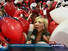 Andrea Mitchell attacked by Republican balloons