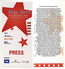 Big Tent press pass (front and back)