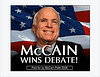 Congrats to McCain on his debate win!