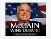 Congrats to McCain on his debate win!