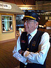 Train museum docent