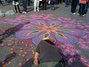 Sand art in Washington square park