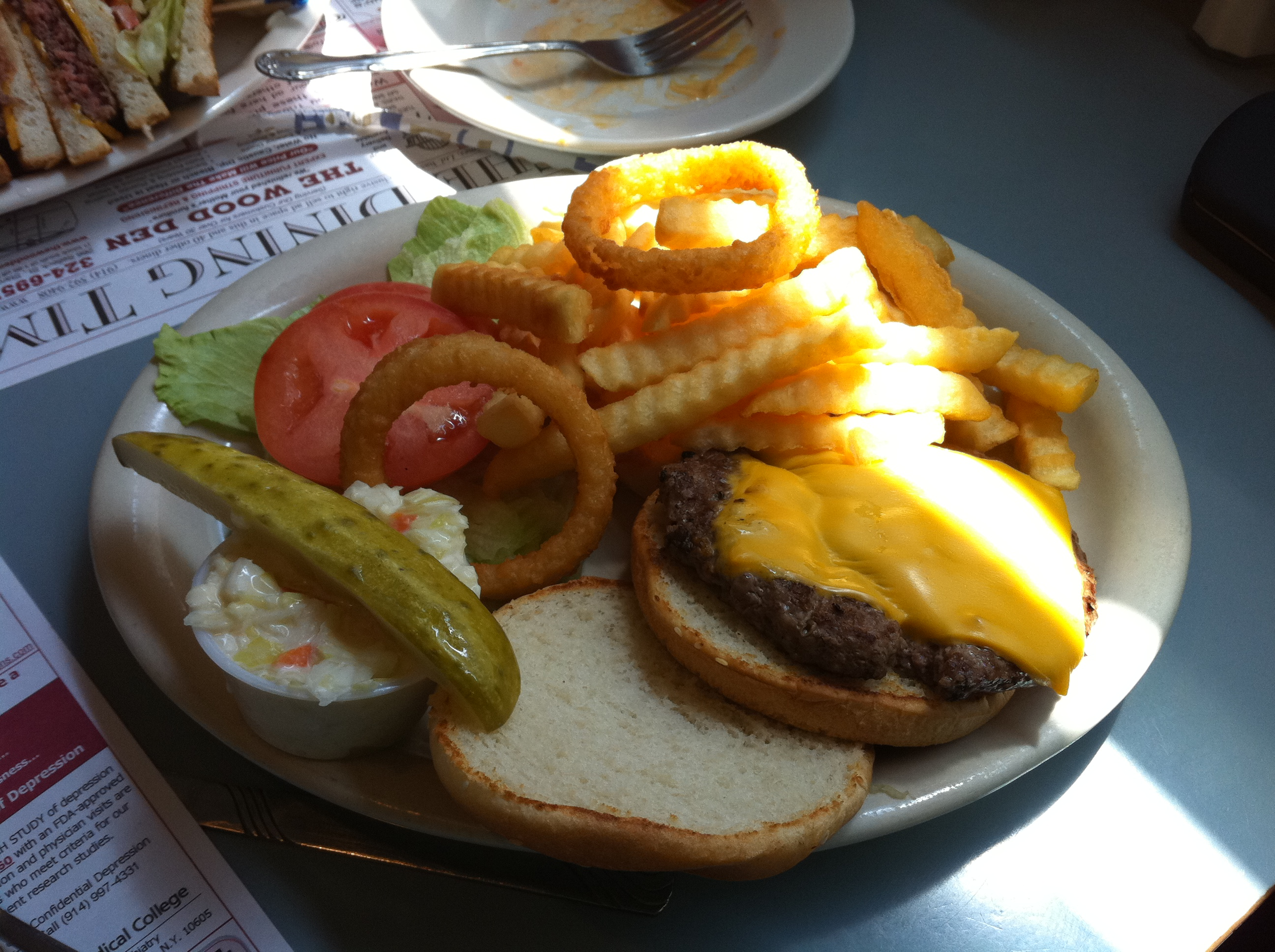 Photo: All-American cheeseburger & fries
