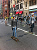 Skateboarders on Broadway