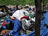 Mounds of possessions at Zuccotti Park