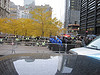 NYPD formed a blockade at Zuccotti