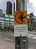 Haiku street sign in Columbus Circle.