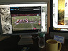 Two monitors and TW cable, pretty nice sports-tweeting setup