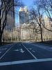 Empty park road