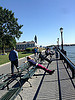 People sunning in Battery Park